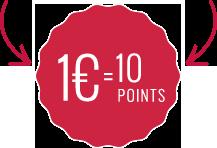 1&euro ; = 10 points